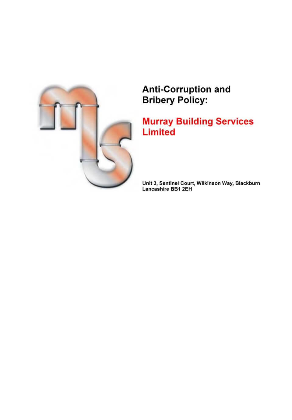 anti corruption policy