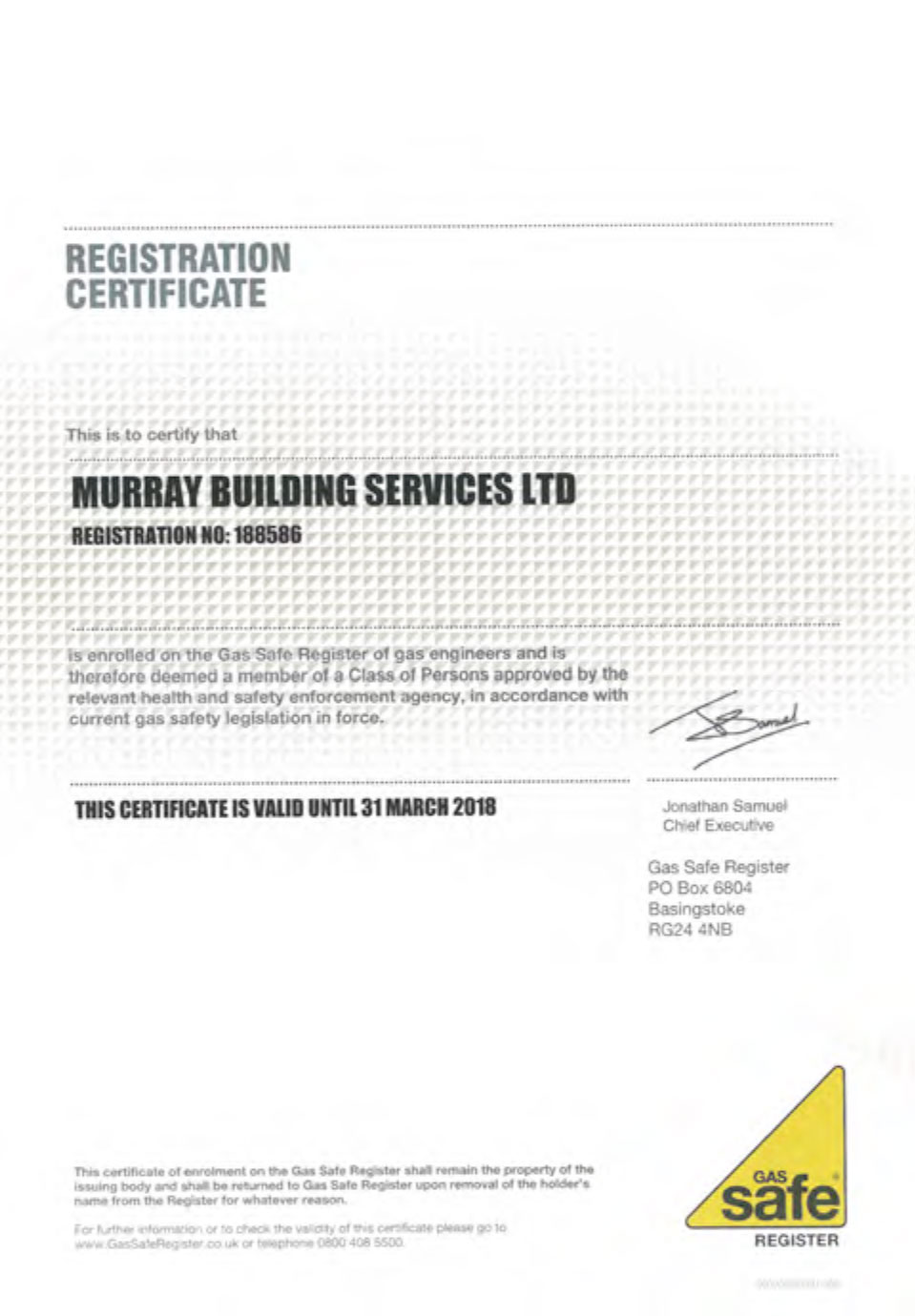 gas safe register accreditation